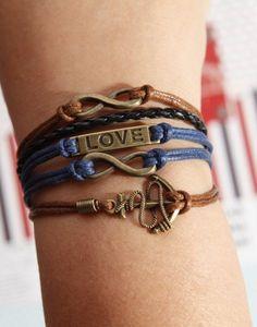 Infinity+karma+Bracelet+Anchor+Bracelet+Love+by+diychenmade,+$4.66