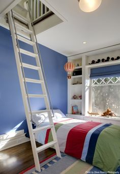 It would be cool to have a loft in the kids rooms.