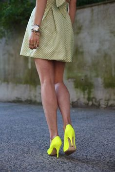 Digging the neon pumps!
