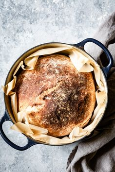 No Knead Rustic Bread Recipe - This artisan style crusty bread gets its complex flavors and chewy interior from a 24 hour rising time. With only 4 ingredients even the most intimidated baker can easily make this practically foolproof bread. Dutch Oven Bread, Artisan Bread Recipes, Rustic Bread, No Knead Bread, Food Stamps, Bread Baking, Healthy Snacks, Food Photography, Cooking Recipes
