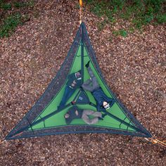 The Trillium is the foundation of a tree tent. With this hammock, you can stack 1, 2 or 3 safely under your tree tent to create the multi-floor outdoor living habitats. Utilize Trillium hammocks to ad