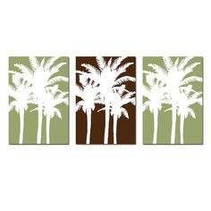 Tropical Wall Art for Home Modern Palm Tree Silhouette by Tessyla