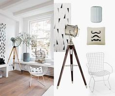 Elements taken straight from the film sets are one of the strongest interior trends. How do You like the lamp? #filmset #interior #whiteinterior