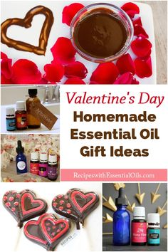 Homemade Essential Oil Gift Ideas for Valentine's Day - Recipes with Essential Oils Homemade Essential Oils, Young Living Essential Oils, Pure Oils, Natural Cleaning Products, Household Products, Bath Products, Essentials, Gift Ideas, Hand Sanitizer