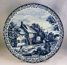Large Delfts Blauw Charger Plate Sheep Farmhouse Holland | eBay