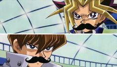 Yu-Gi-Oh characters with mustaches :)