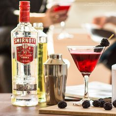 Not everyone can pull off sunglasses and a bob this week, but everyone can make this one-of-a-kind cocktail #Fashion  Just mix 1 oz Smirnoff 21, .5 oz Triple Sec, .5 oz Lime Juice and Muddled Blackberries.