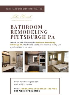 At John Hancock Contracting Inc We Specialize In Bathroom Remodeling Services In Pittsburgh Pa Our Team Of Licensed A Bathrooms Remodel Remodel Home Addition