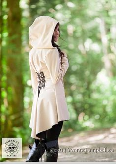 Taupe black corset laced raincoat festival by FayeTalityCouture, $160.00