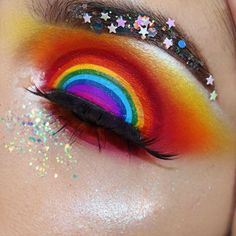 Somewhere over the rainbow, you'll find @rocioceja_!  She used #sugarpill Love+, Flamepoint and Buttercupcake shadows in this million dollar look!  SHOP: https://sugarpill.com/collections/pressed-eyeshadows