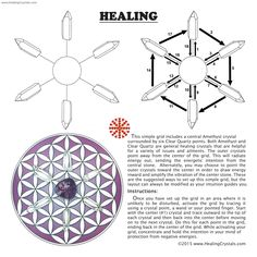 Healing Grid Kit w/Amethyst (10pcs.)- Amethyst - Healing Crystals  Follow link to purchase. Use code HCPIN10 for a 10% discount