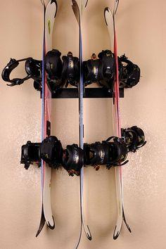Wall Mounted Snowboard Racks for Sale Snowboarding Tips, Ski And Snowboard, Wine Rack, Wall Mount, Skiing, Ski, Bottle Rack, Wall Installation, Wine Racks