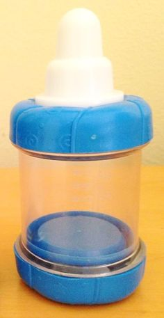 Sassy Baby food Nursers Infant Feeder 4oz Cereal/ Baby Food Bottles Blue Rare! #Sassy