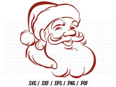 Santa Claus Clipart, Winter Christmas Wall Art, Santa SVG File for Vinyl Cutters, Screen Printing, Silhouette, Die Cut Machines - CA324 by ClipArtSupplyHouse on Etsy https://www.etsy.com/listing/456458046/santa-claus-clipart-winter-christmas