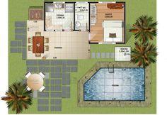 Planta humanizada cod 55 https://www.soprojetos.com.br/projetos-de-casas/1-Quarto-e-Varanda-na-Praia-Cod-55