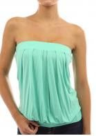 Strapless Summer Top - Clothing Length : Regular - Collar : No Collar - Pattern Type : Solid - Material : Polyester - Style : Fashion - Sleeve Length : Sleeveless - Sleeve Style : Strapless - Availabl