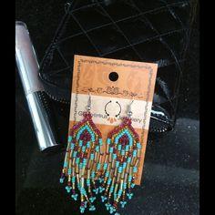 Native American Inspired Bead Earrings! Buy Me!