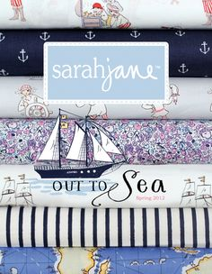 Out to Sea Fabric by Sarah Jane releasing in the first week in Aug!