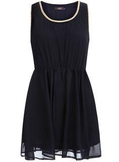 Navy chiffon dress  #DorothyPerkins