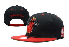 discount new ear nba miam snapback hats black fit red on sale