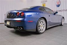 2010 Ferrari 612 Scaglietti in Blue Tour De France with Beige interior -- perfection with under miles! Ferrari 612, First Car, New And Used Cars, Car Manufacturers, Car Ins, Beige, Vehicles, Interior, Taupe