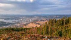 Utsikt over Steinkjer fra oftenåsen.