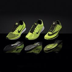 Volt track and field footwear for the road  Nike Flyknit Racer 416a46964a0c2