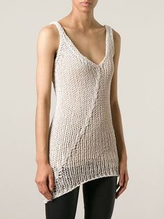 Isabel Benenato Open Knit Tank Top - The Library - Farfetch.com