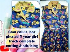 Frock Fashion, Frocks For Girls, Box Pleats, Stitching, Coat, Youtube, Style, Costura, Swag