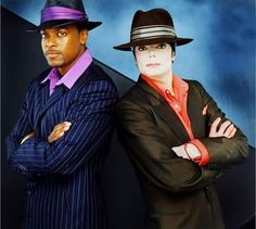 """Chris Tucker and Michael Jackson at You Rock My World video shoot.  """"When you be around him, you just get happy""""....  Chris"""