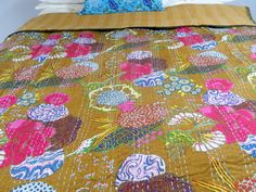 Upholstery Fabric  Cotton BrownTropical Print by kanthaa on Etsy