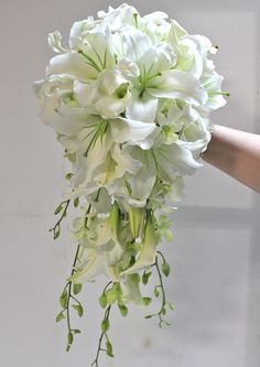 Cascading Bridal Bouquets vintage | bouquets vintage pearls over the cascade oct cascade bridal vary