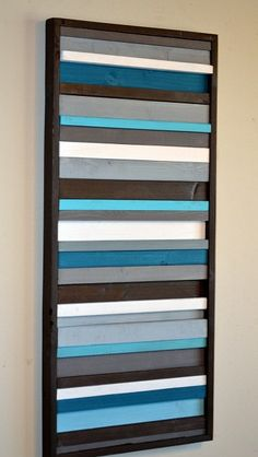 Modern Wall Art Wood Sculpture  Stripes by moderntextures on Etsy, $175.00