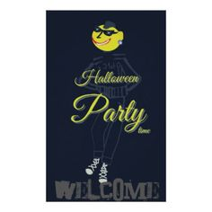 Welcome to Halloween party Poster - halloween decor diy cyo personalize unique party