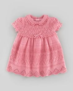 Ralph Lauren Pointelle-Knit Dress, Fall Rose Heather, 9-24 Months
