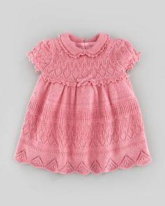Ralph Lauren Pointelle-Knit Dress, Fall Rose Heather, 9-24 Months