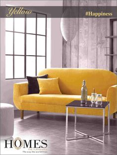 #Colors and how to use them in your #house.  #Yellow - An Emotion | An Elegance | A Feeling of Sheer Delight.  This color is known for enhancing intelligence & mental agility. It can help stimulate conversation and clarify thoughts  #HomeDecor #BestDecor #InteriorDesign #design #interior #inspiration #decor #wall #fabric #HomeSweetHome #HomeDecorTip #Curtains #Happiness