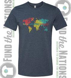 T-Shirt  Love Crosses Oceans  Isaiah 6:8  Fund The by Go2Haiti