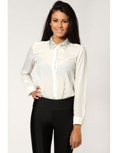 cute look just the right style for school Simple Shirts, Women's Shirts, Stylish, Blouse, T Shirt, Jackets, Fashion Trends, Outfits, Clothes