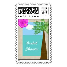 tropical bridal shower postage tropical days