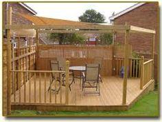 Image result for garden decking designs corner