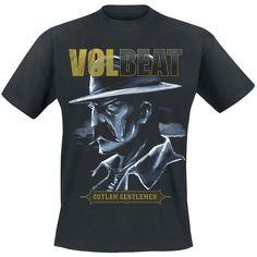 """Volbeatin uutuuspaita uuden """"Outlaw gentlemen & shady ladies"""" -albumin hengessä. 100% puuvillaa."""