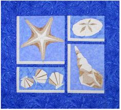 Paper pieced wall hanging. The 1st quilt in a series of 3. Starfish & More Quilt Pattern DW2-127 by The Designer's Workshop - Eileen Bahring Sullivan.  Check out our seasonal patterns. https://www.pinterest.com/quiltwomancom/seasonal-patterns/  Subscribe to our mailing list for updates on new patterns and sales! https://visitor.constantcontact.com/manage/optin?v=001nInsvTYVCuDEFMt6NnF5AZm5OdNtzij2ua4k-qgFIzX6B22GyGeBWSrTG2Of_W0RDlB-QaVpNqTrhbz9y39jbLrD2dlEPkoHf_P3E6E5nBNVQNAEUs-xVA%3D%3D
