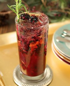 Blackberry Gin Sling