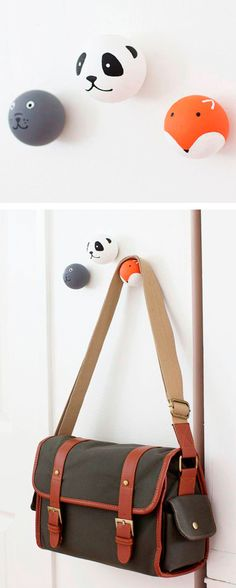 DIY Painted animal door knobs - by Sugar & Cloth