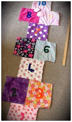 Hopscotch playmat. £18. Find me on Facebook, Betty's Buttons of Ventnor