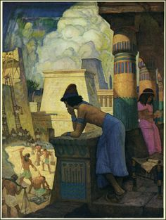 NC Wyeth, Moses as a boy in Egypt