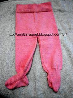 Entre un alambre y Otros: Pantalones con Pezinho en la máquina para hacer punto