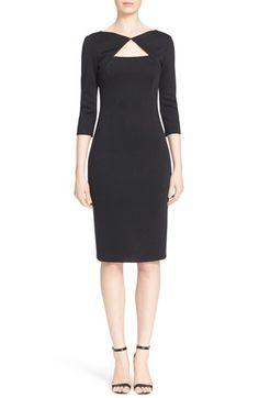 St. John Collection Crystal Embellished Matte Shine Milano Knit Dress $1,595.00  #TopSale #womensfashion #DesigerClothing