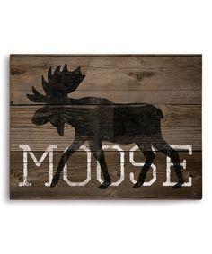 Union Rustic 'Moose Silhouette' Graphic Art Plaque Size: H x W x D Moose Decor, Moose Art, Moose Silhouette, Moose Lodge, Wal Art, Cabin Signs, Pallet Art, Pallet Wood, Barn Wood